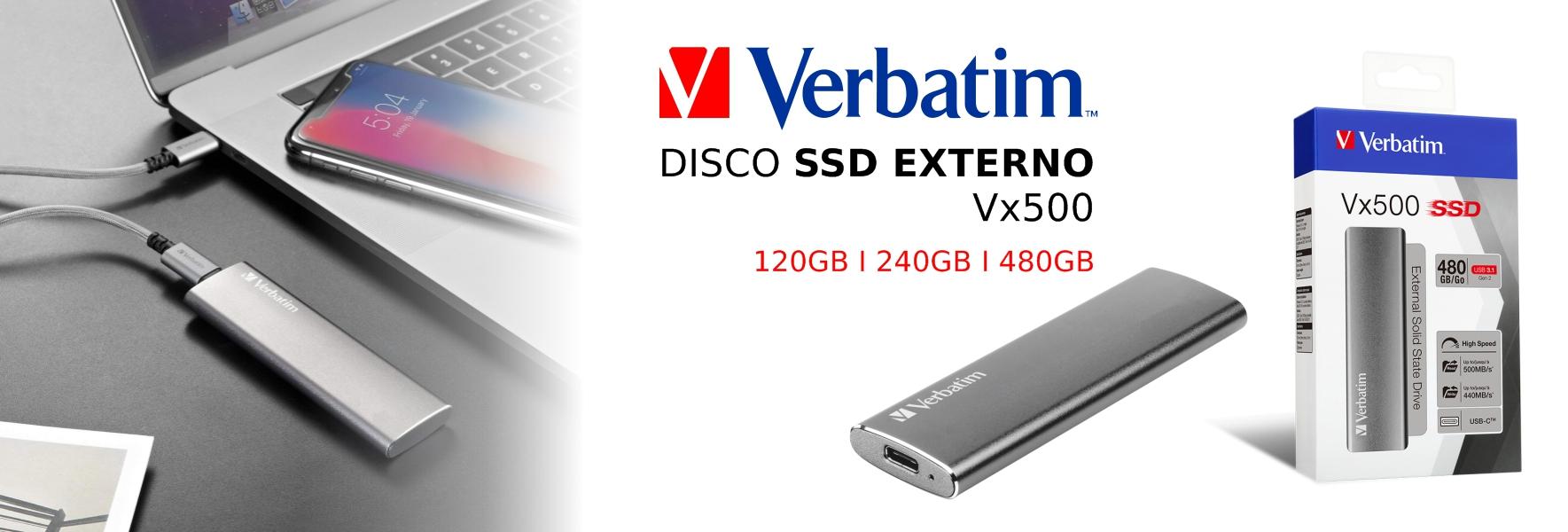 Banner Verbatim Discos SSD