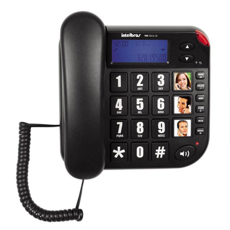 Teléfono Tok Fácil con ID - Negro Intelbras