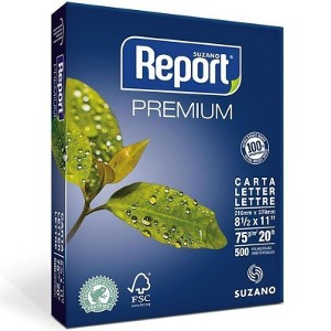 Resma de Papel Carta REPORT 500 hojas 75grs.
