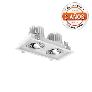 Square Downlight Doble Direccional