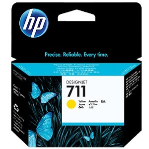 Cartucho de tinta DesignJet HP 711 de 29 ml amarillo(CZ132A)