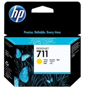 Pack de ahorro de 3 cartuchos de tinta DesignJet HP 711 de 29 ml amarillo(CZ136A)